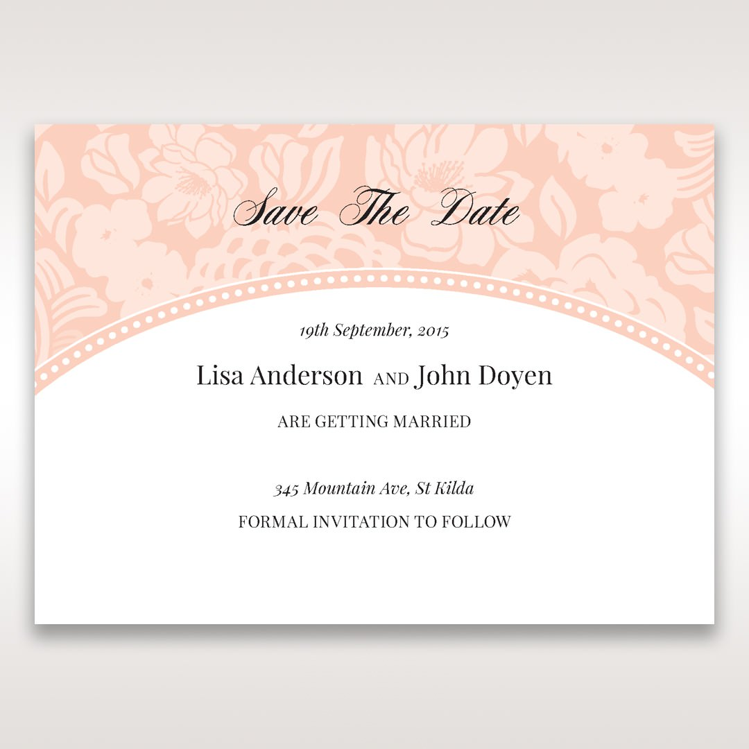 Pink Rustic Garden Laser Cut Pocket - Save the Date - Wedding Stationery - 37