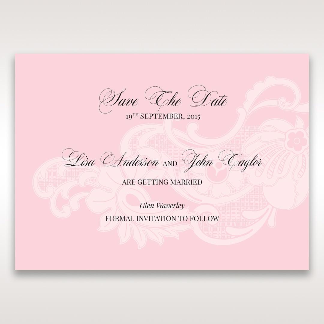 Pink Laser Cut Floral Half Pocket - Save the Date - Wedding Stationery - 61