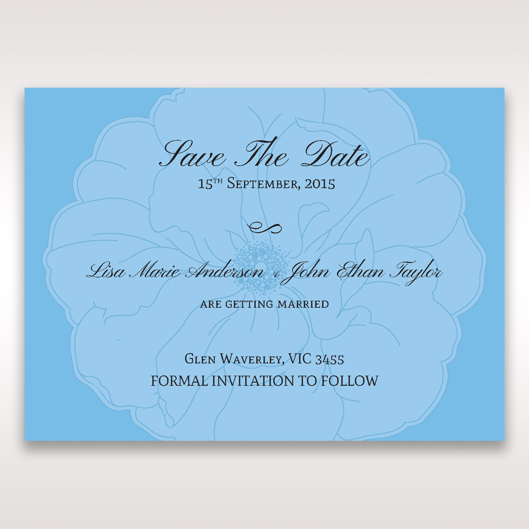 Blue Urban Flower Handcrafted - Save the Date - Wedding Stationery - 33