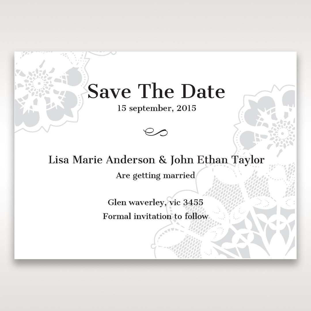 Black Laser Cut Floral Frame - Save the Date - Wedding Stationery - 75