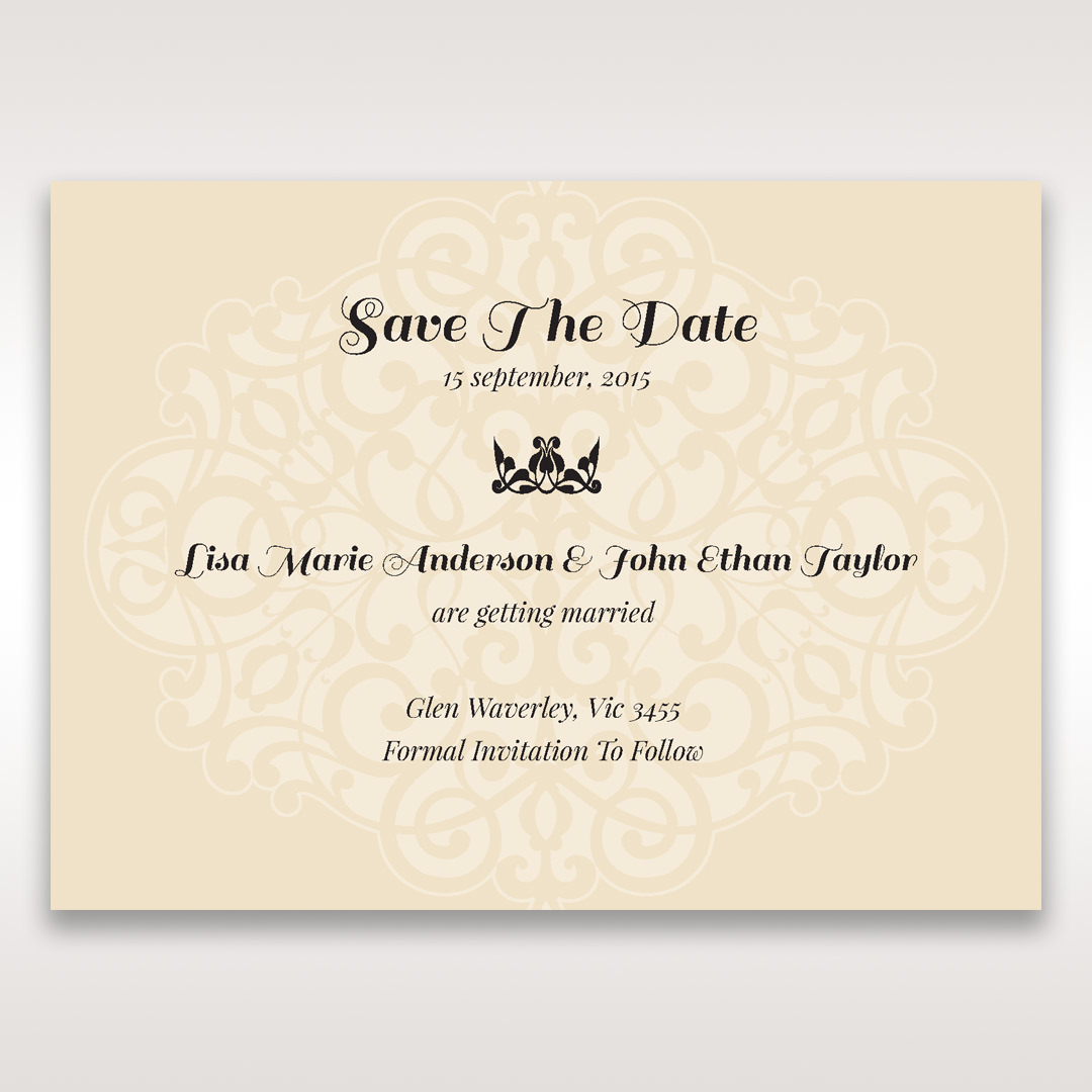 Yellow/Gold Jeweled Laser Cut - Save the Date - Wedding Stationery - 41