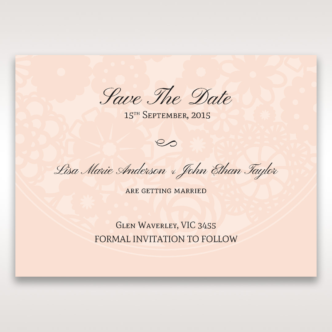 Orange Pink Light Romance - Save the Date - Wedding Stationery - 34