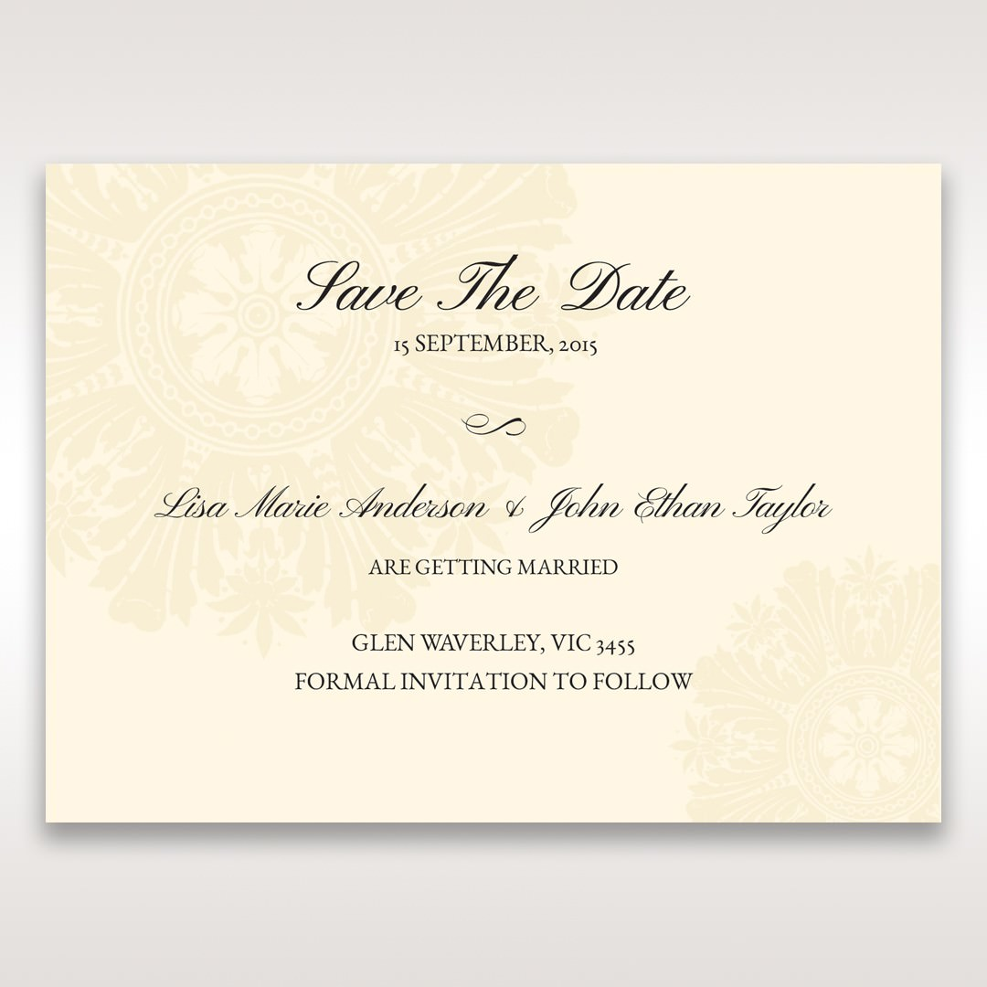 Brown Classic Couture Gold & Brown - Save the Date - Wedding Stationery - 74