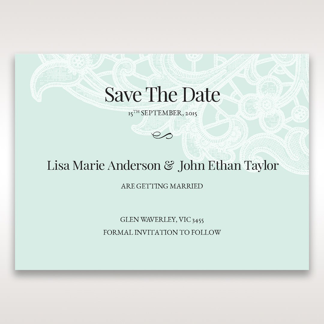 Blue Gatefold Floral Laser Cut - Save the Date - Wedding Stationery - 73