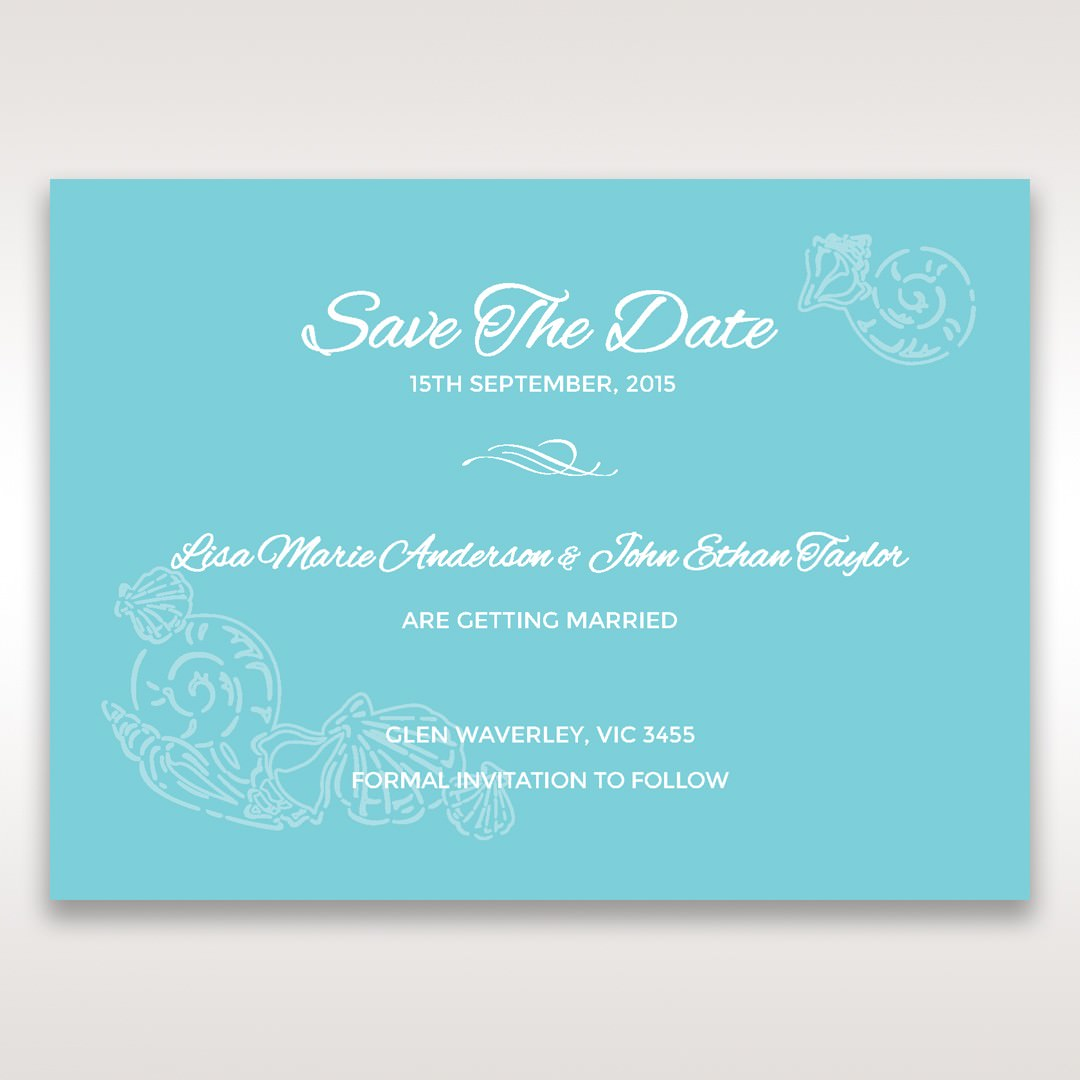 Green Ocean Frame I Laser Cut - Save the Date - Wedding Stationery - 78