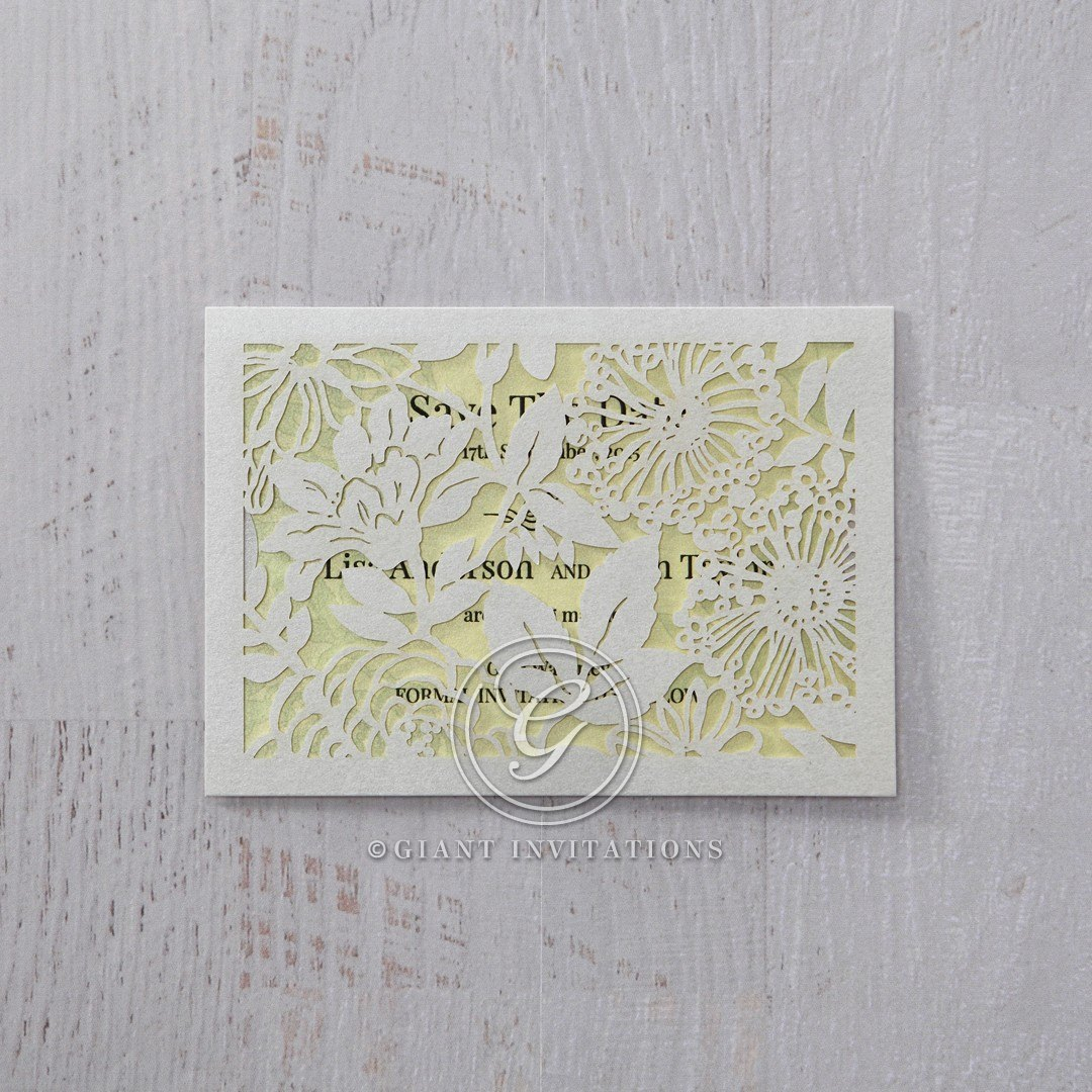 Green Magical Garden - Save the Date - Wedding Stationery - 6