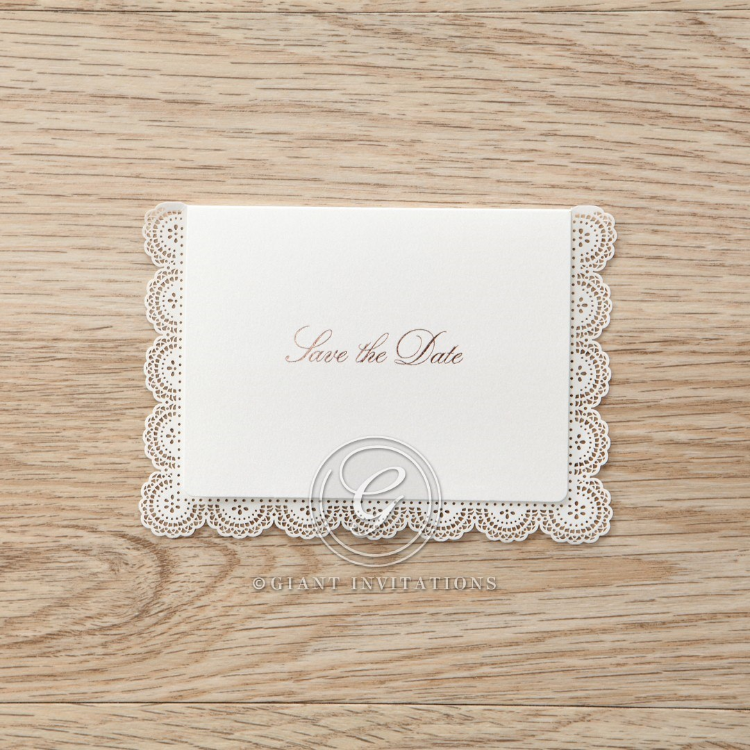 White Amabilis - Save the Date - Wedding Stationery - 24