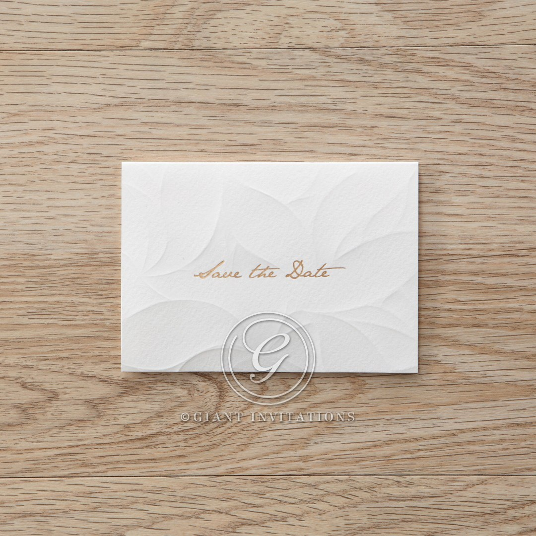 Orange Embossed Announcement - Save the Date - Wedding Stationery - 27