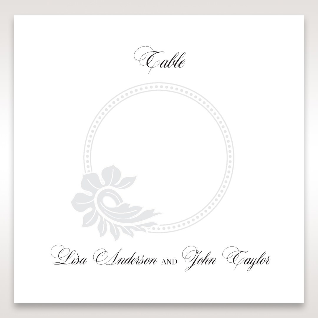 White Black Laser Cut Wrap with Ribbon - Table Number Cards - Wedding Stationery - 77