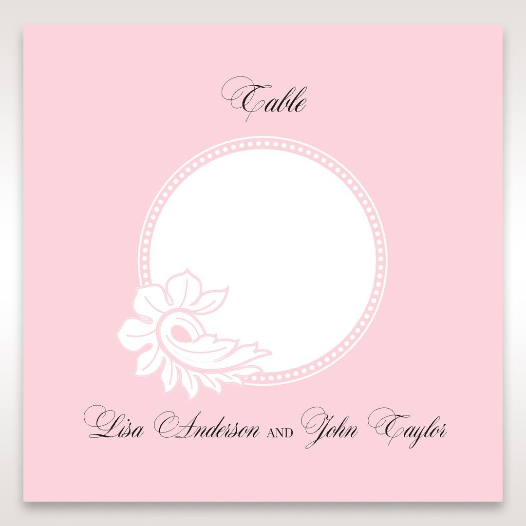 Pink Laser Cut Floral Half Pocket - Table Number Cards - Wedding Stationery - 81