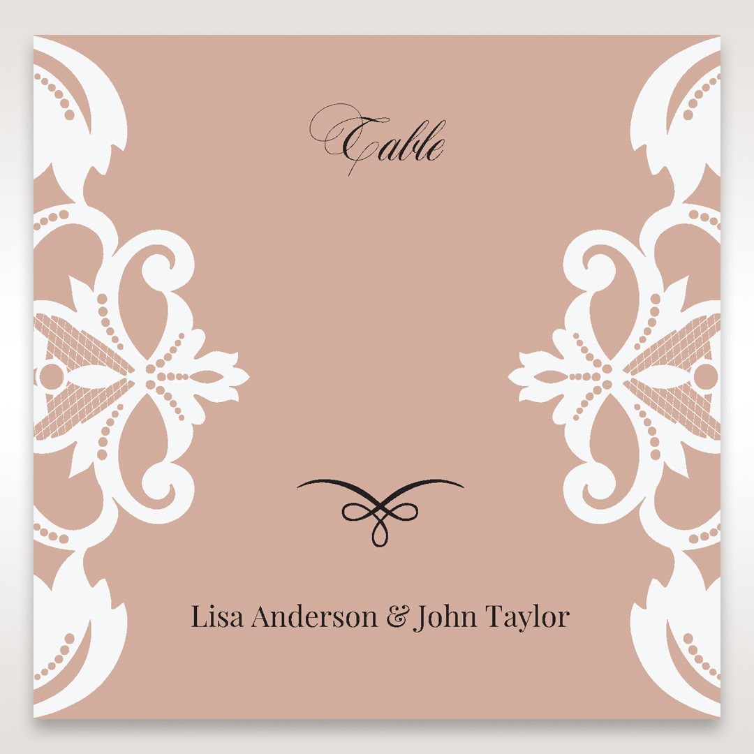 White Elegant Laser Cut Half Pocket with a Bow - Table Number Cards - Wedding Stationery - 91