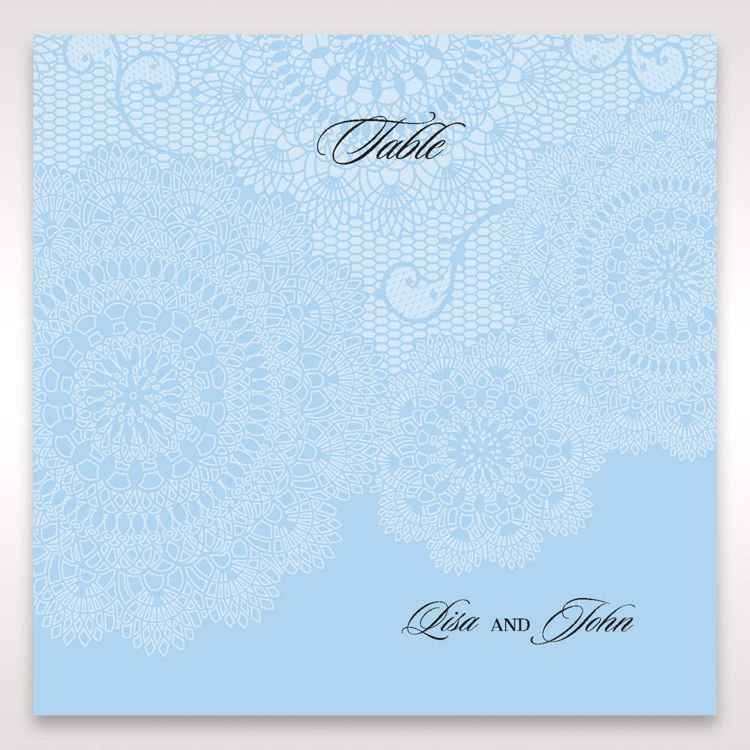 Blue Handmade Vintage Lace Floral - Table Number Cards - Wedding Stationery - 33