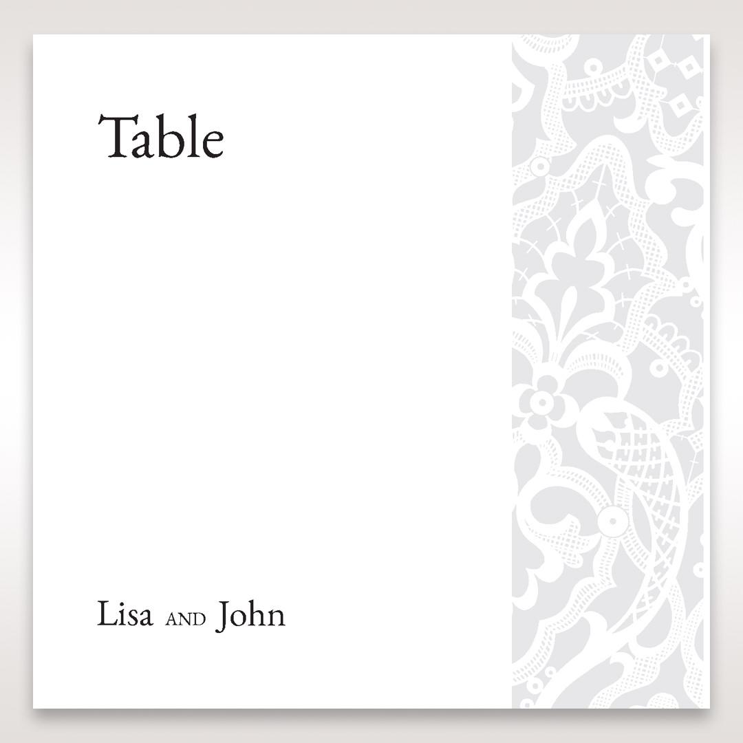 White Elegant Laser Cut - Table Number Cards - Wedding Stationery - 15