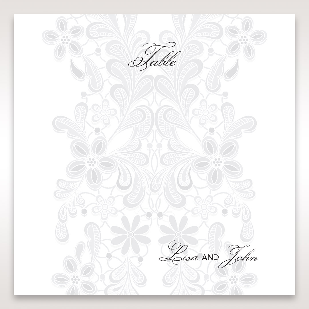 White Laser Cut Floral Wrap - Table Number Cards - Wedding Stationery - 30