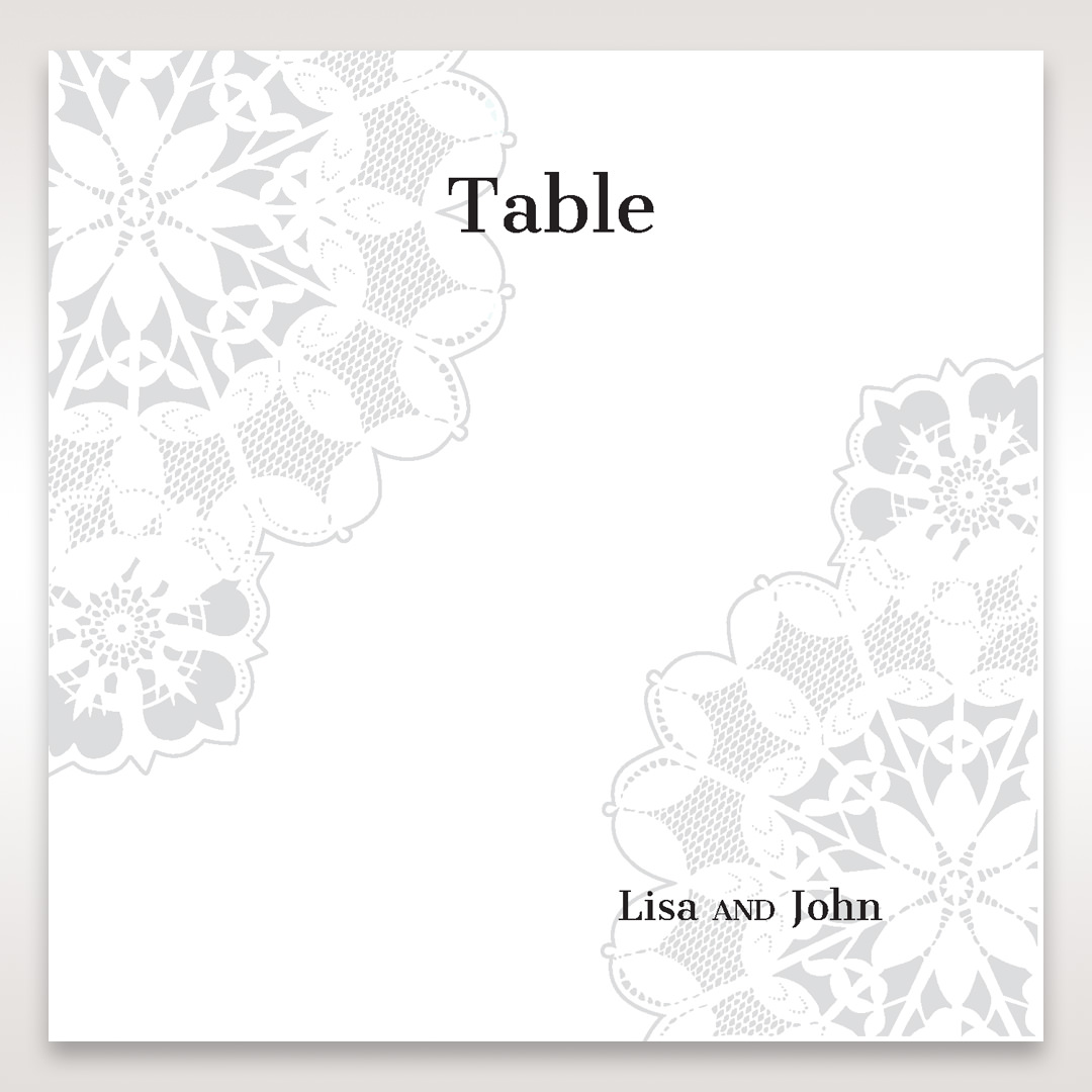 Black Laser Cut Floral Frame - Table Number Cards - Wedding Stationery - 22