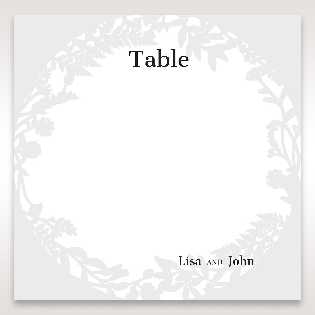 White Enchanted Forest I Laser Cut P - Table Number Cards - Wedding Stationery - 75
