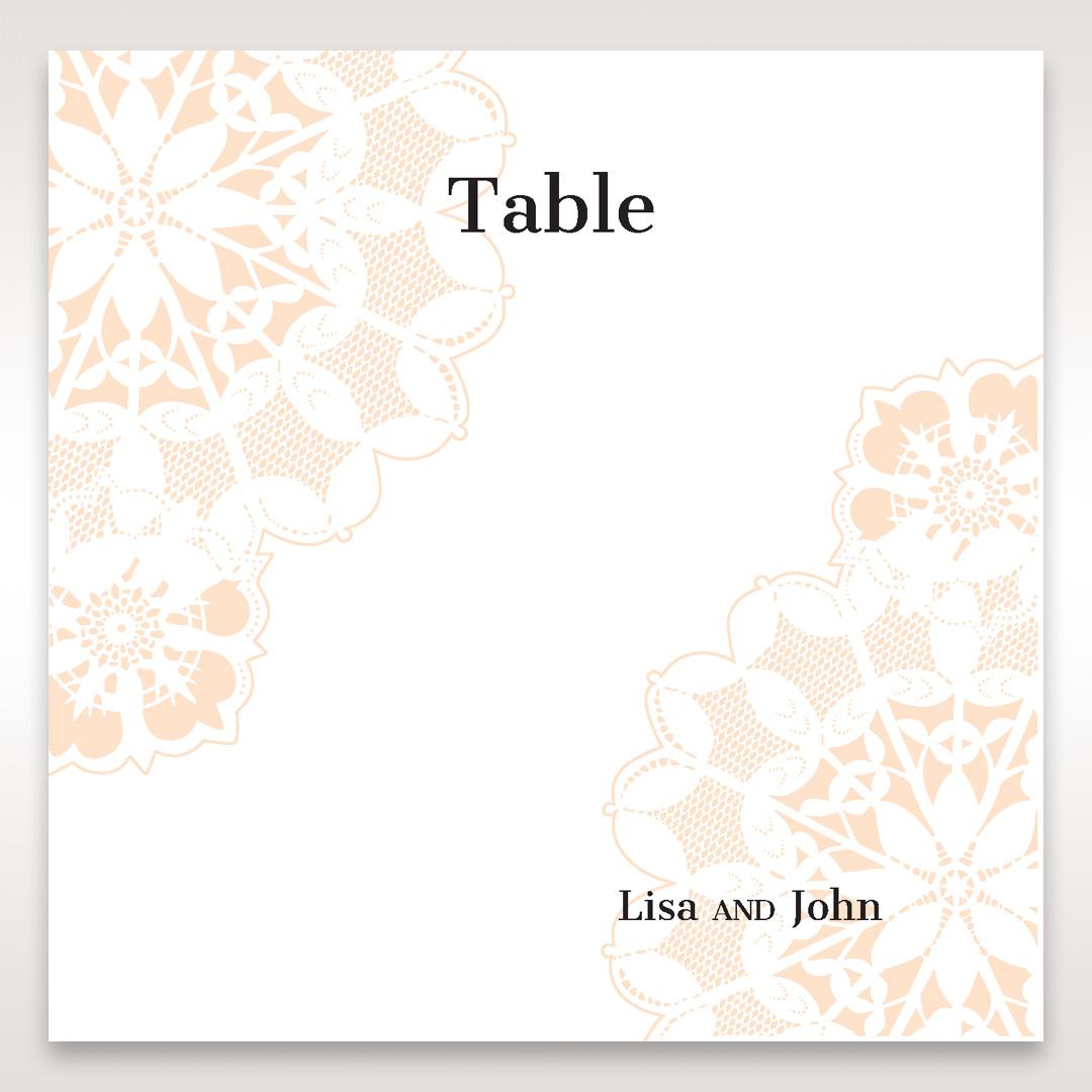 Orange Laser Cut Floral Frame - Table Number Cards - Wedding Stationery - 82