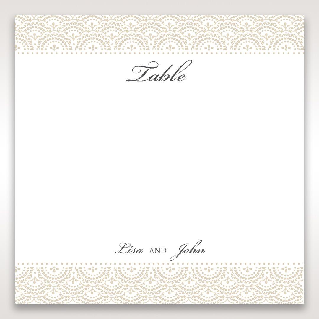 White Amabilis - Table Number Cards - Wedding Stationery - 5