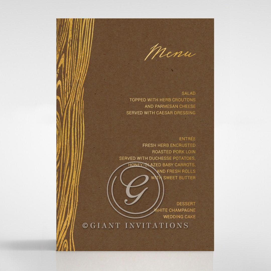 Timber Imprint menu card DM116093-NC-GG