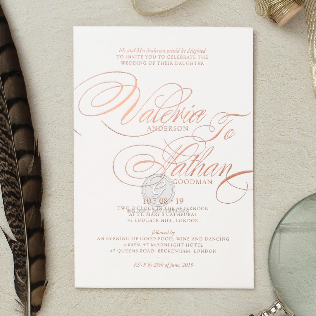 Timeless Romance wedding invitations FWI116101-GW-RG