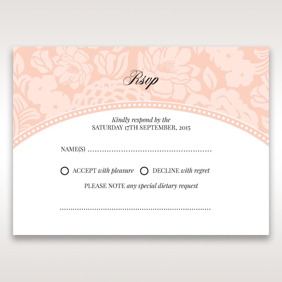 Pink Rustic Garden Laser Cut Pocket - RSVP Cards - Wedding Stationery - 37
