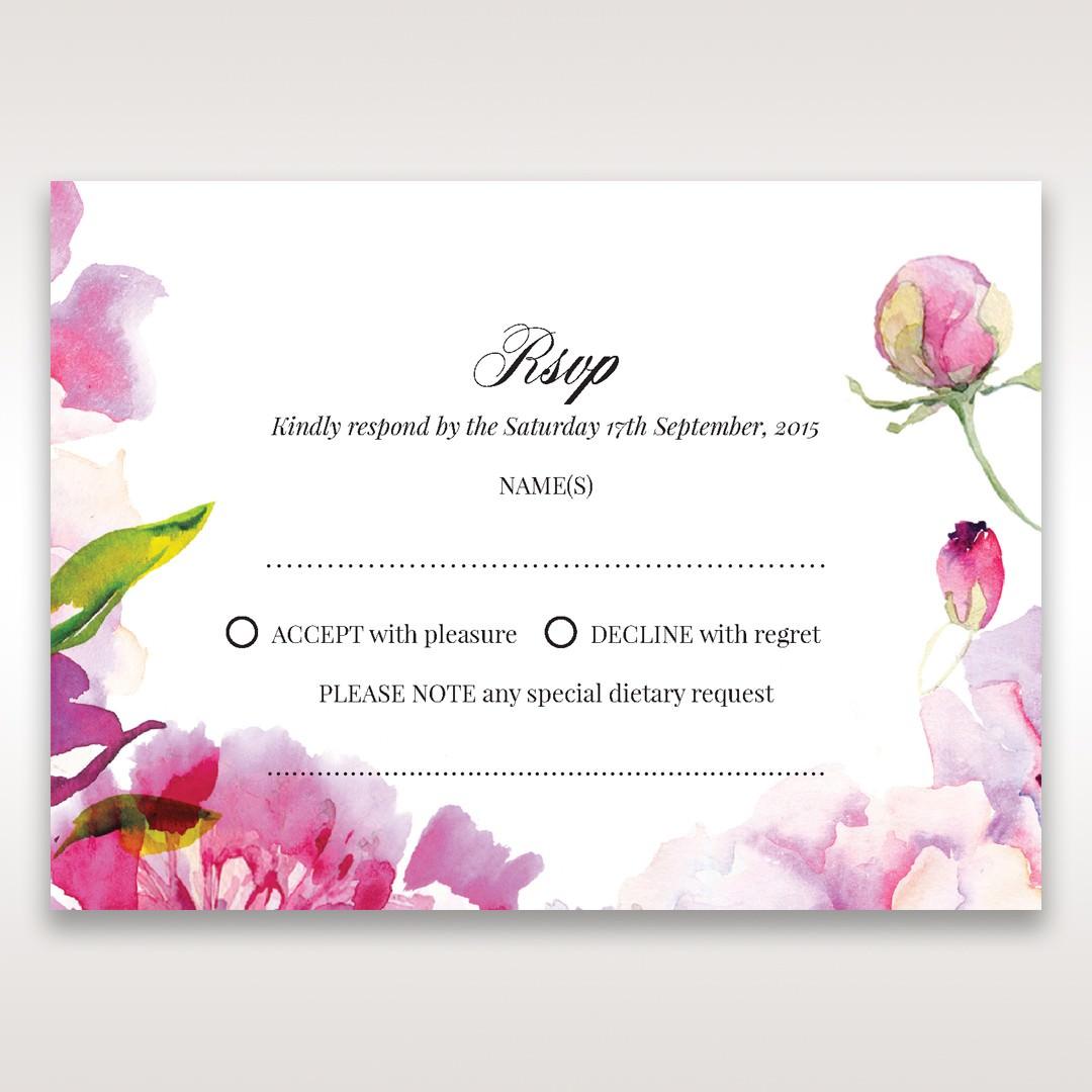 Purple Laser Cut Frame Pocket - RSVP Cards - Wedding Stationery - 41