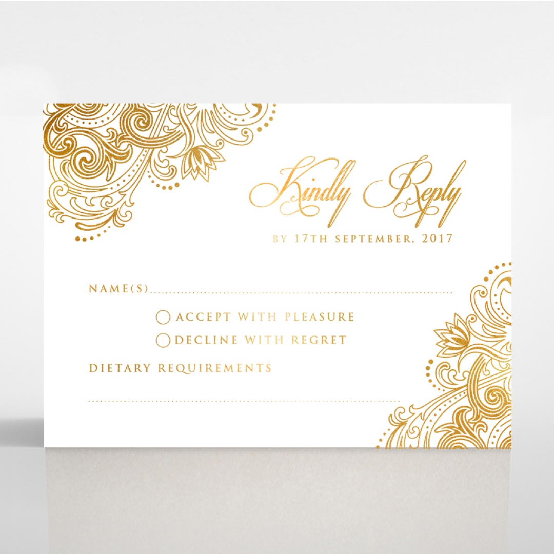 Imperial Glamour with Foil rsvp card DV116022-NV-F