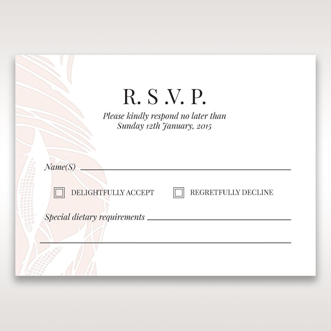 Orange Mystic Forest - RSVP Cards - Wedding Stationery - 3