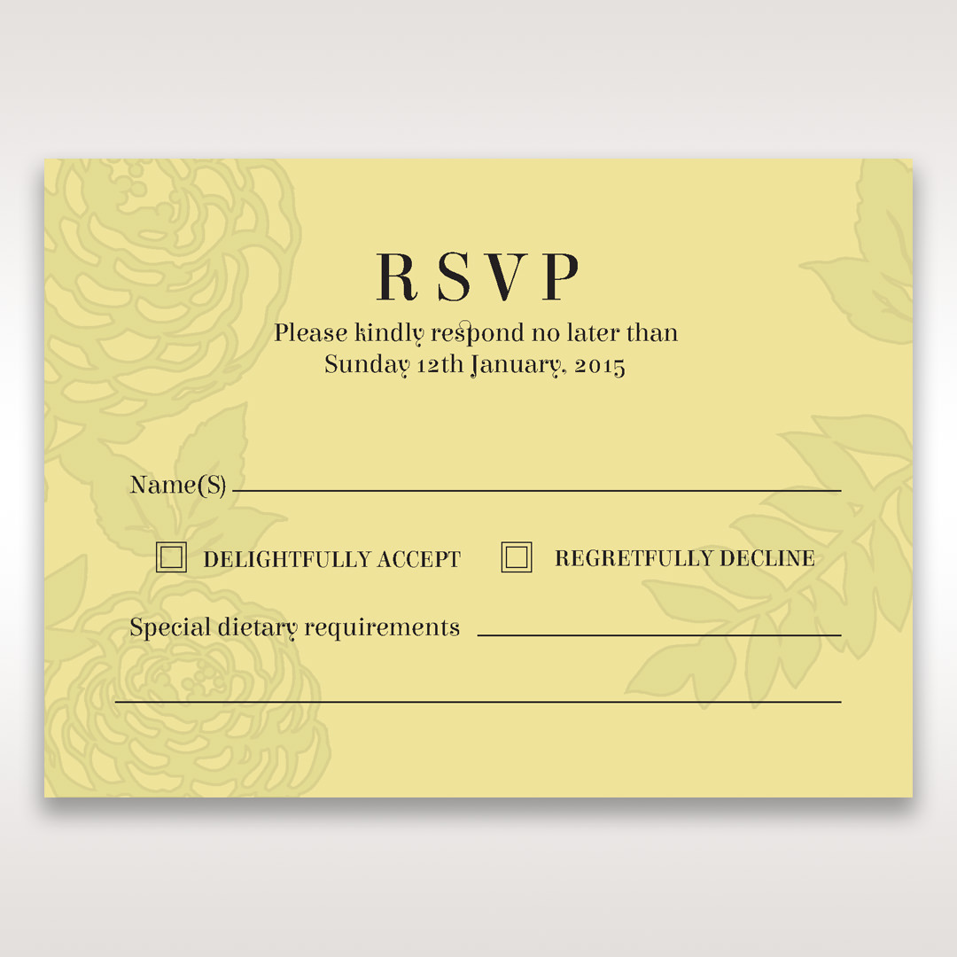 Green Magical Garden - RSVP Cards - Wedding Stationery - 95