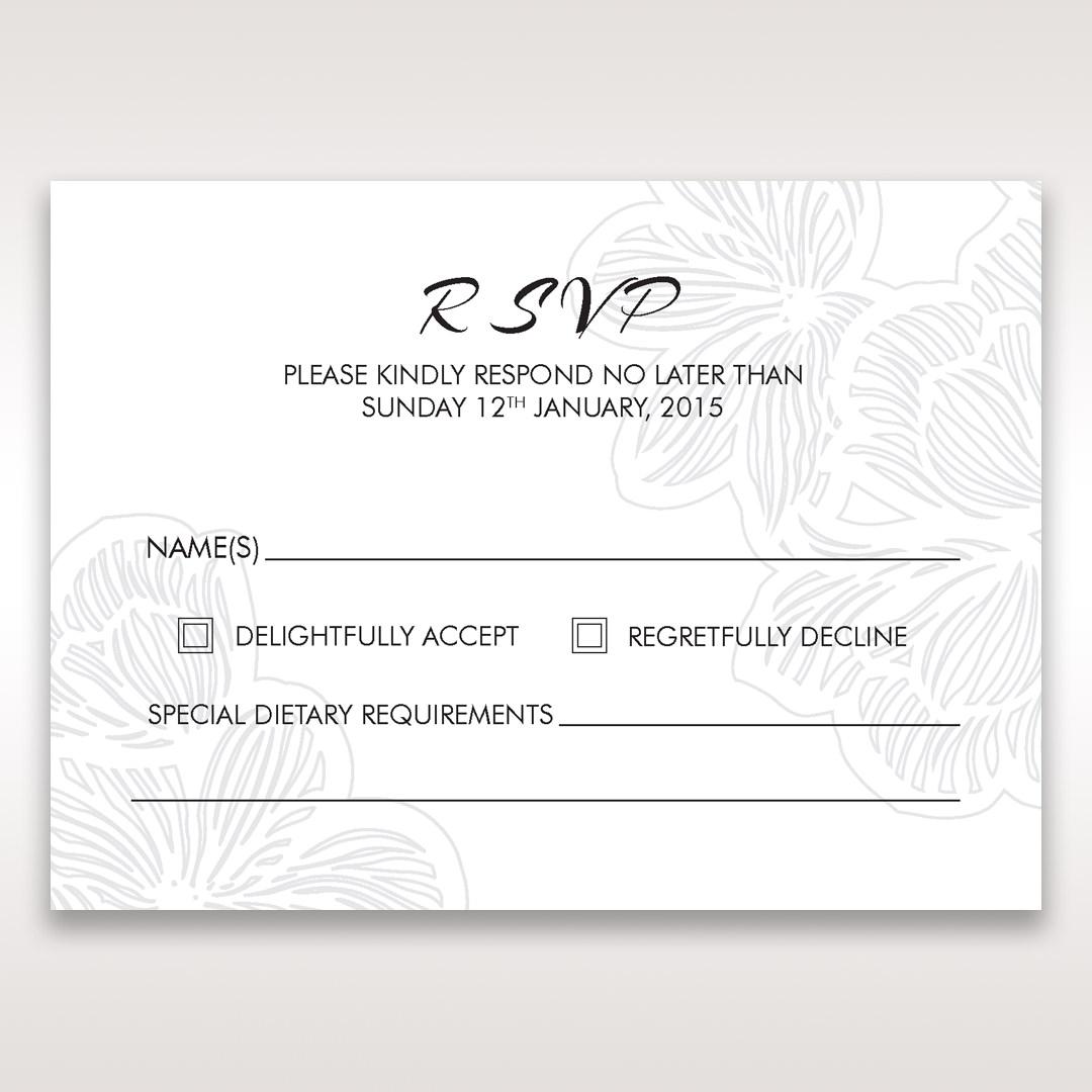 Orange Laser Cut Flower Frame - RSVP Cards - Wedding Stationery - 63