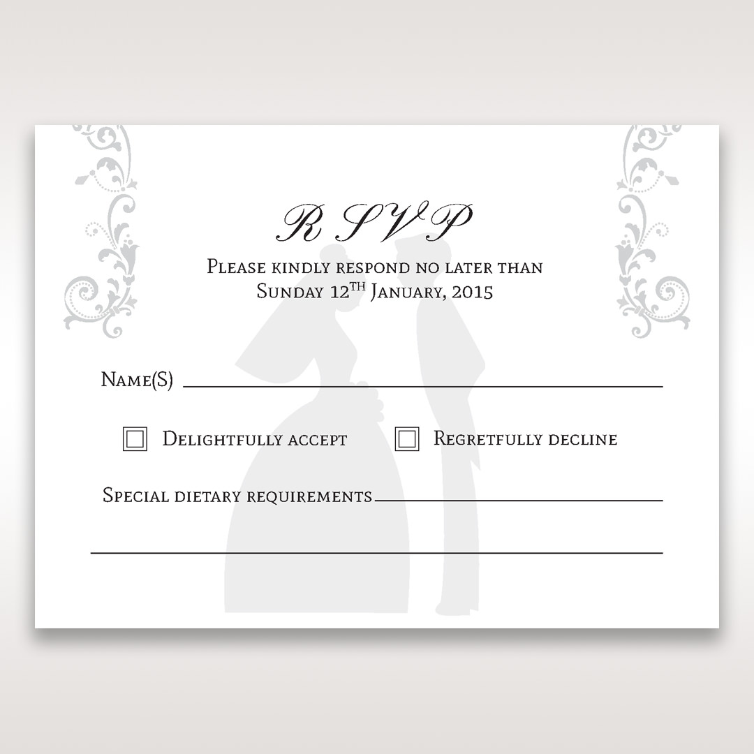 White Promise - RSVP Cards - Wedding Stationery - 72