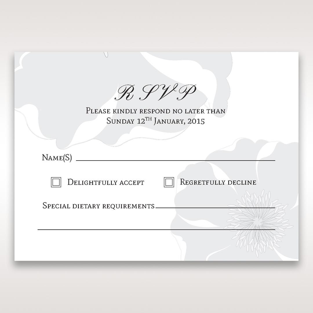 White True Love - RSVP Cards - Wedding Stationery - 74