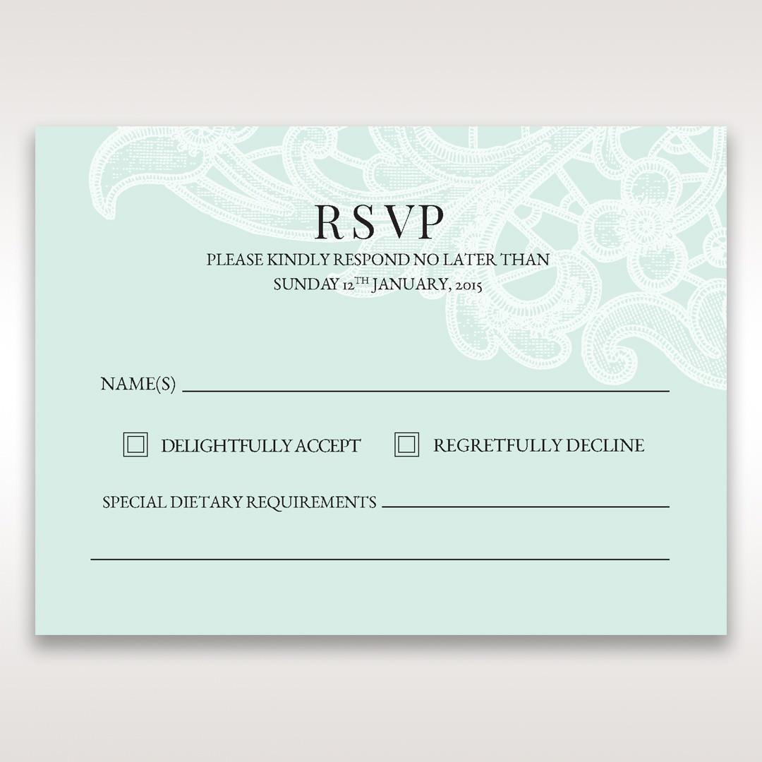 Blue Gatefold Floral Laser Cut - RSVP Cards - Wedding Stationery - 21