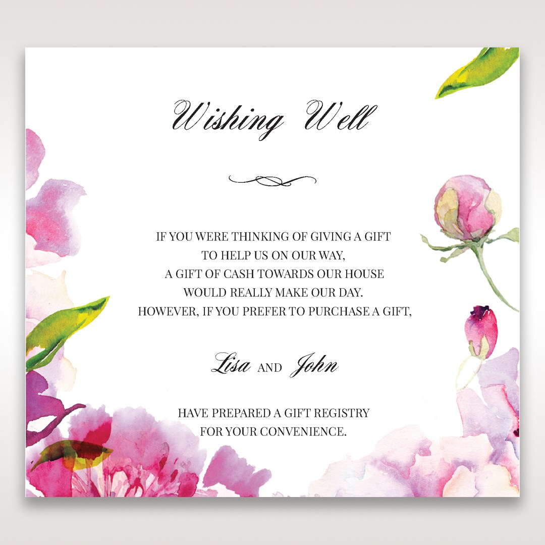Purple Laser Cut Frame Pocket - Wishing Well / Gift Registry - Wedding Stationery - 21