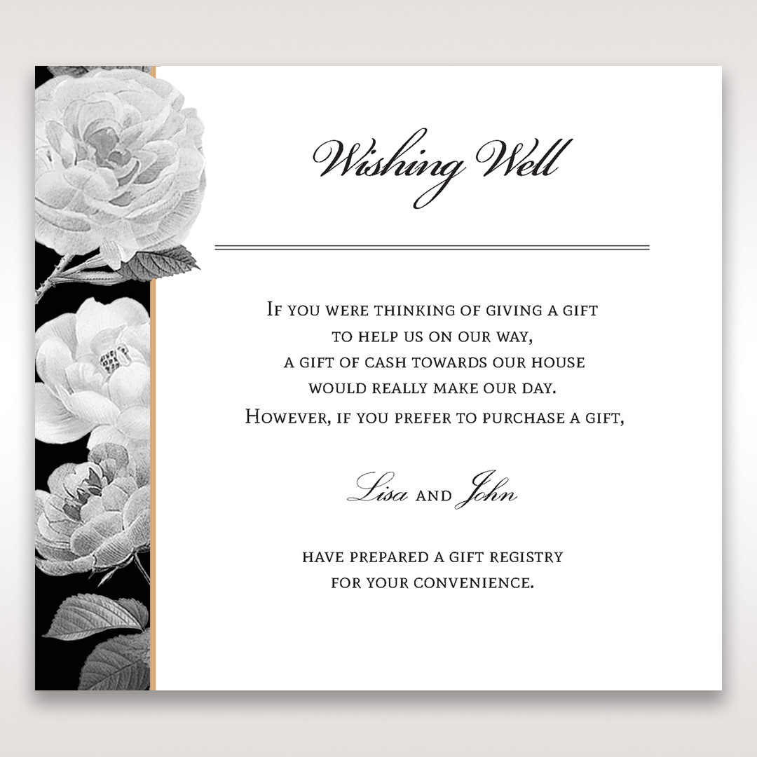 ... Rose GardenWishing Well / Gift RegistryWedding Stationery13
