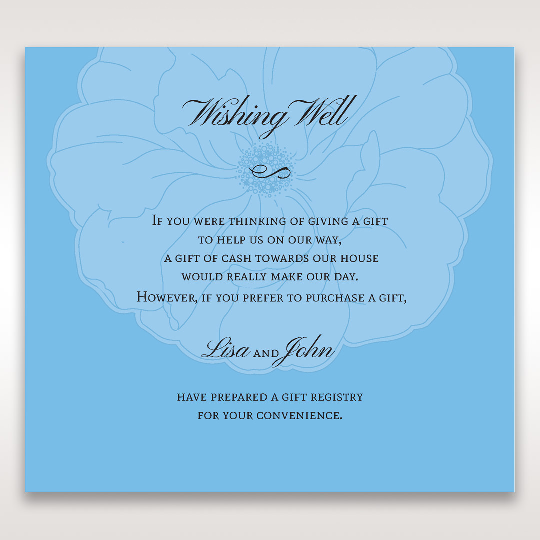 Blue Urban Flower Handcrafted - Wishing Well / Gift Registry - Wedding Stationery - 28