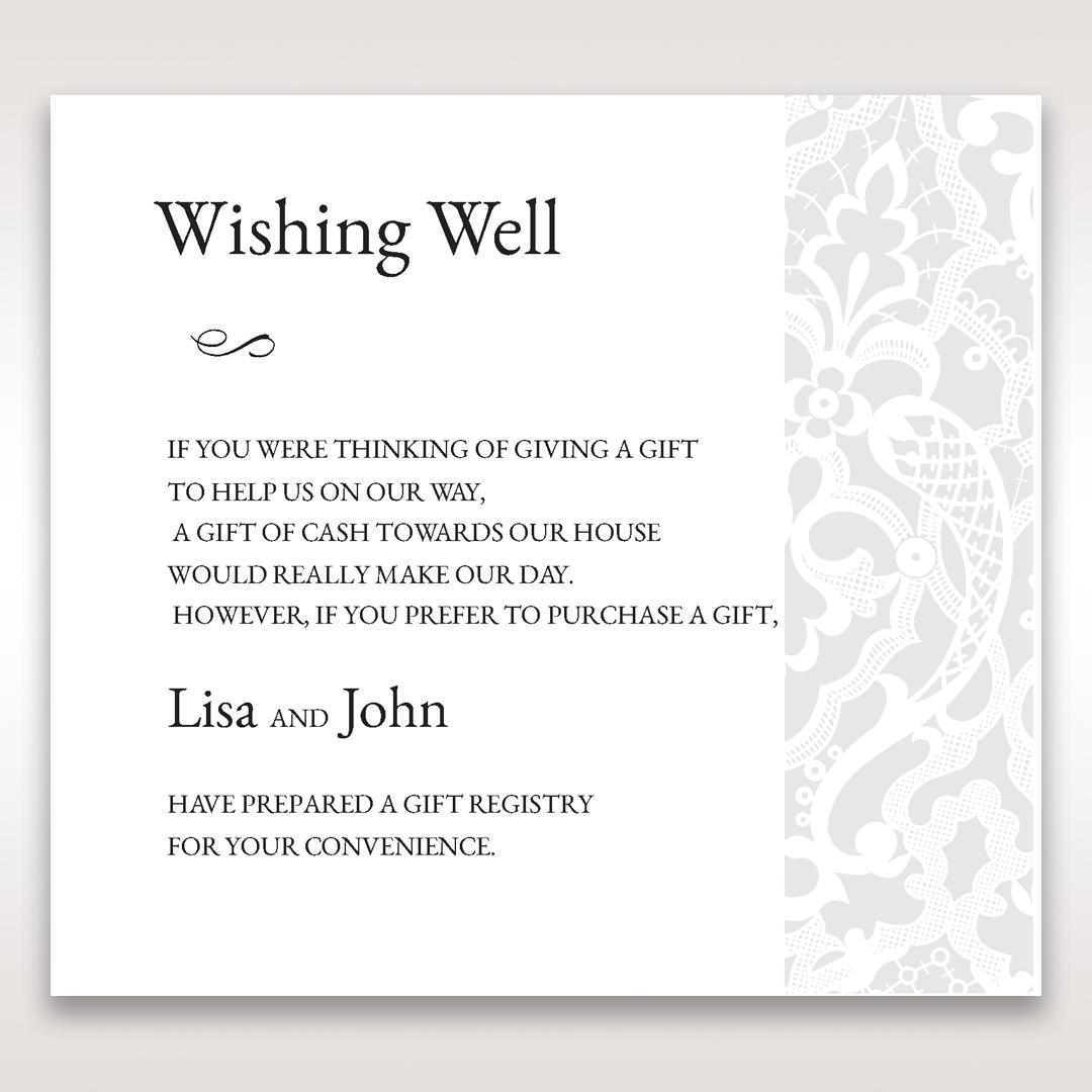 White Elegant Laser Cut - Wishing Well / Gift Registry - Wedding Stationery - 94