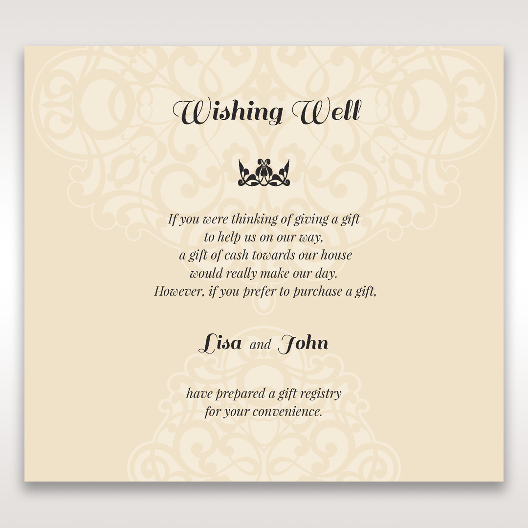 Make a wish ask for a gift wedding stationery by giant for What to ask for wedding registry