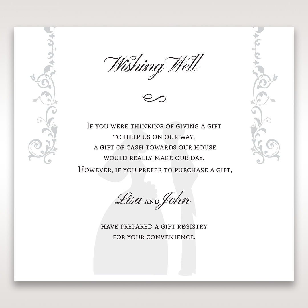 White Promise - Wishing Well / Gift Registry - Wedding Stationery - 86