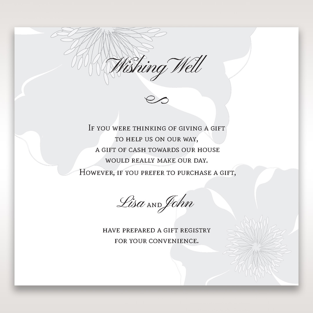 White True Love - Wishing Well / Gift Registry - Wedding Stationery - 88