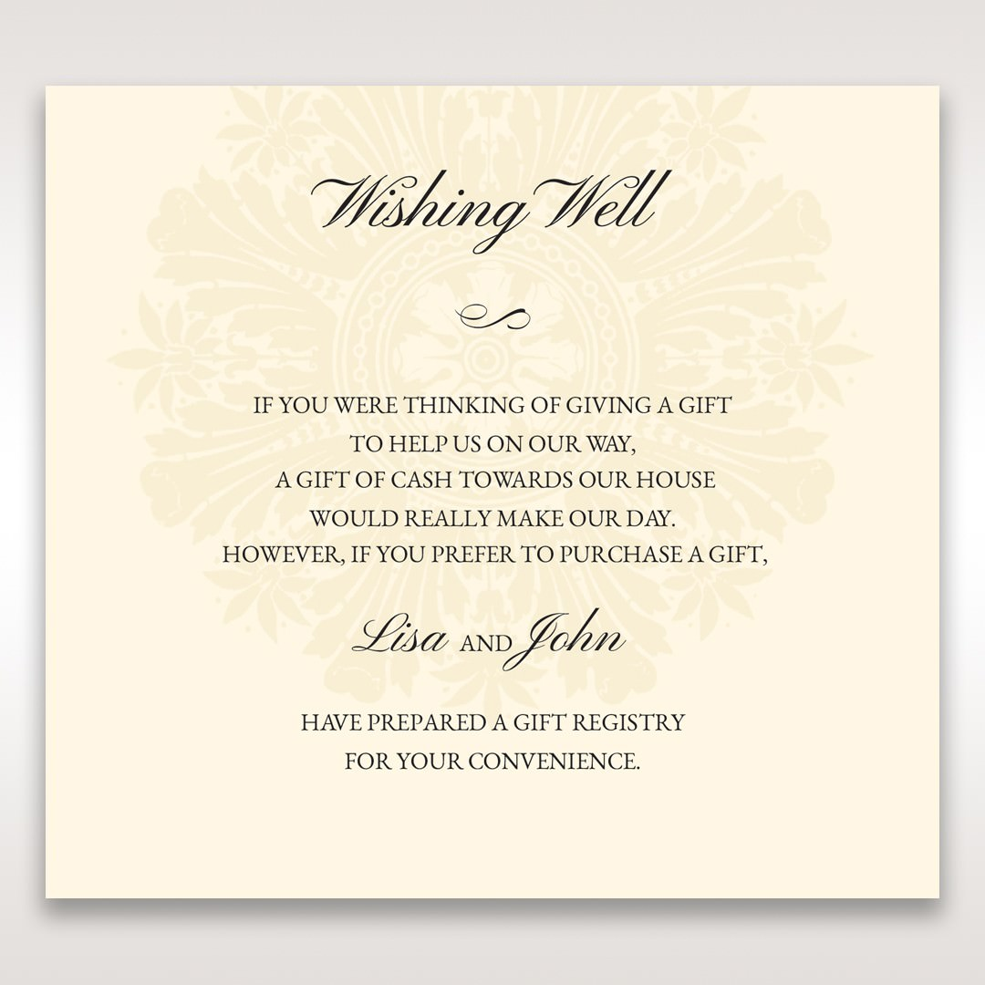 Brown Classic Couture Gold & Brown - Wishing Well / Gift Registry - Wedding Stationery - 98