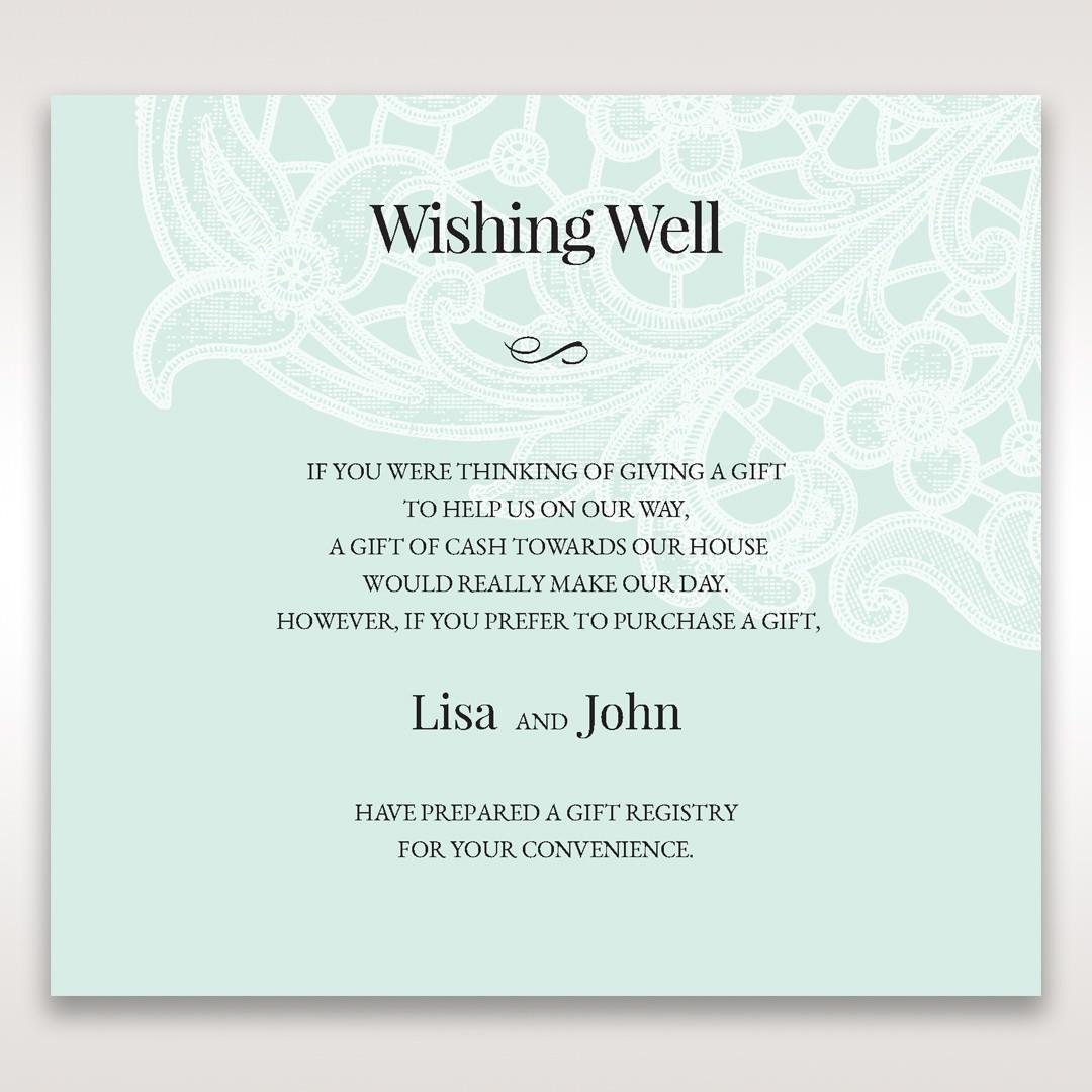 Blue Gatefold Floral Laser Cut - Wishing Well / Gift Registry - Wedding Stationery - 66
