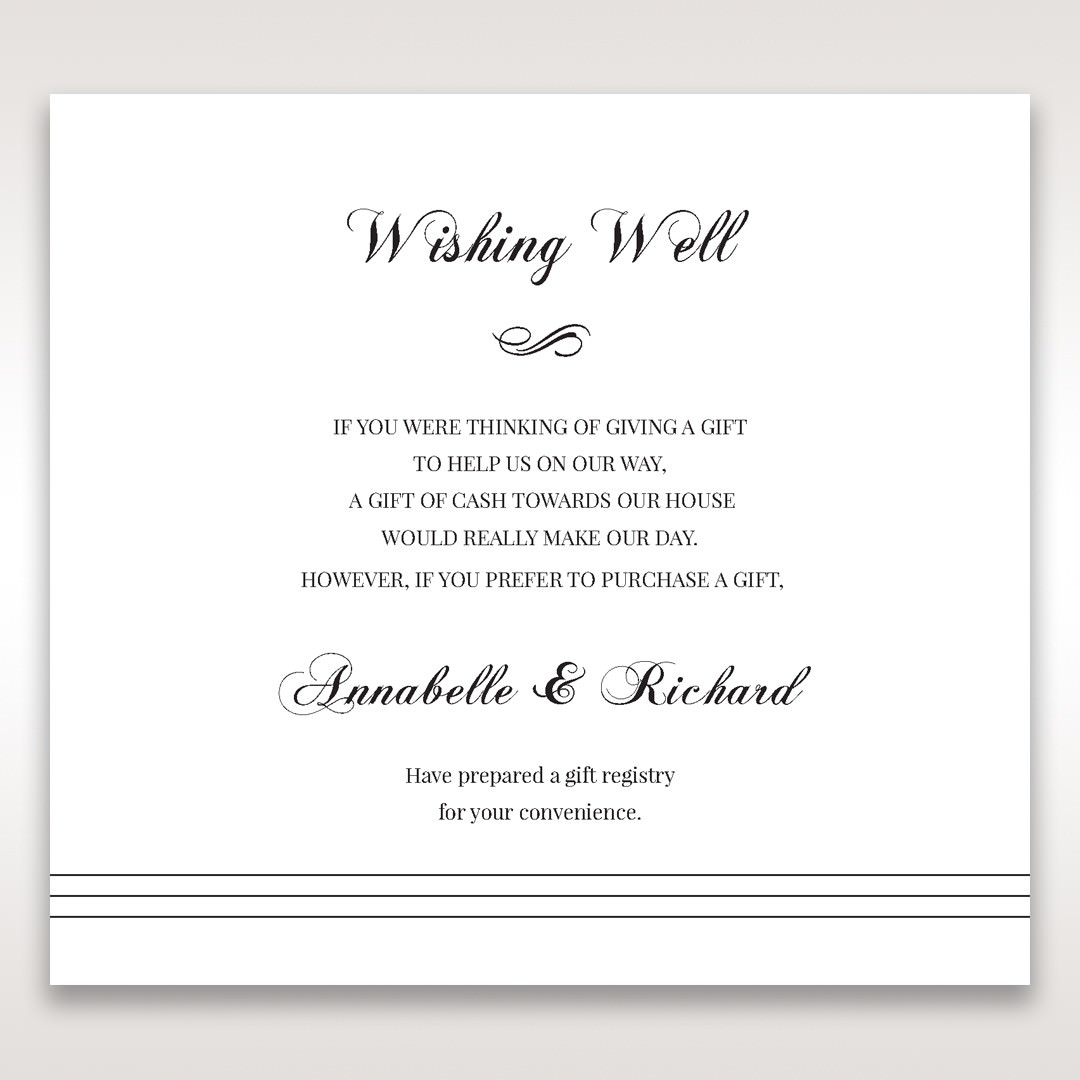 Wedding Gifts | Classic Wishing Well and Registry Cards