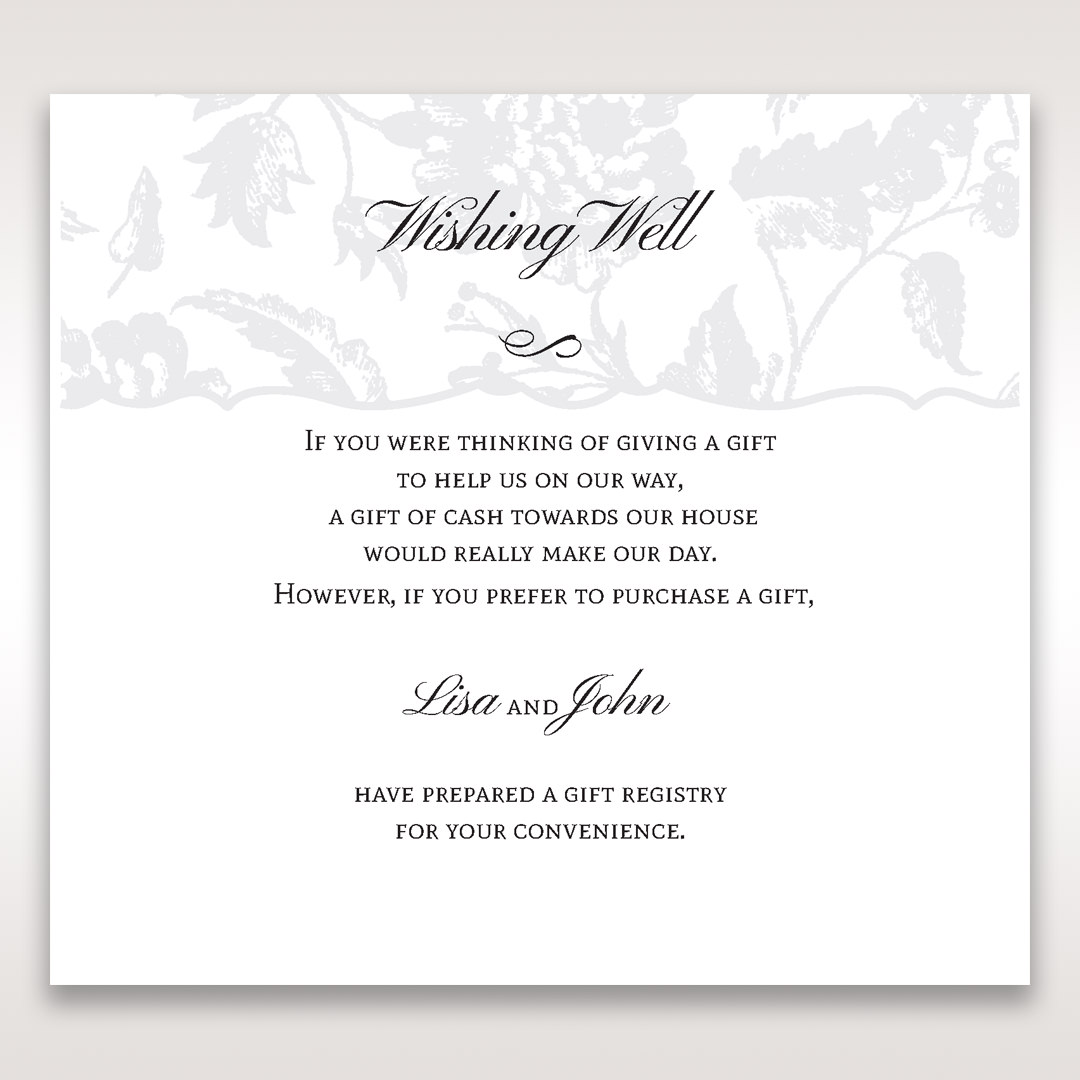 Gift Registry Wording For Wedding Invitations: Floral And Leaf Adorned Wishing Well For Outdoor Weddings