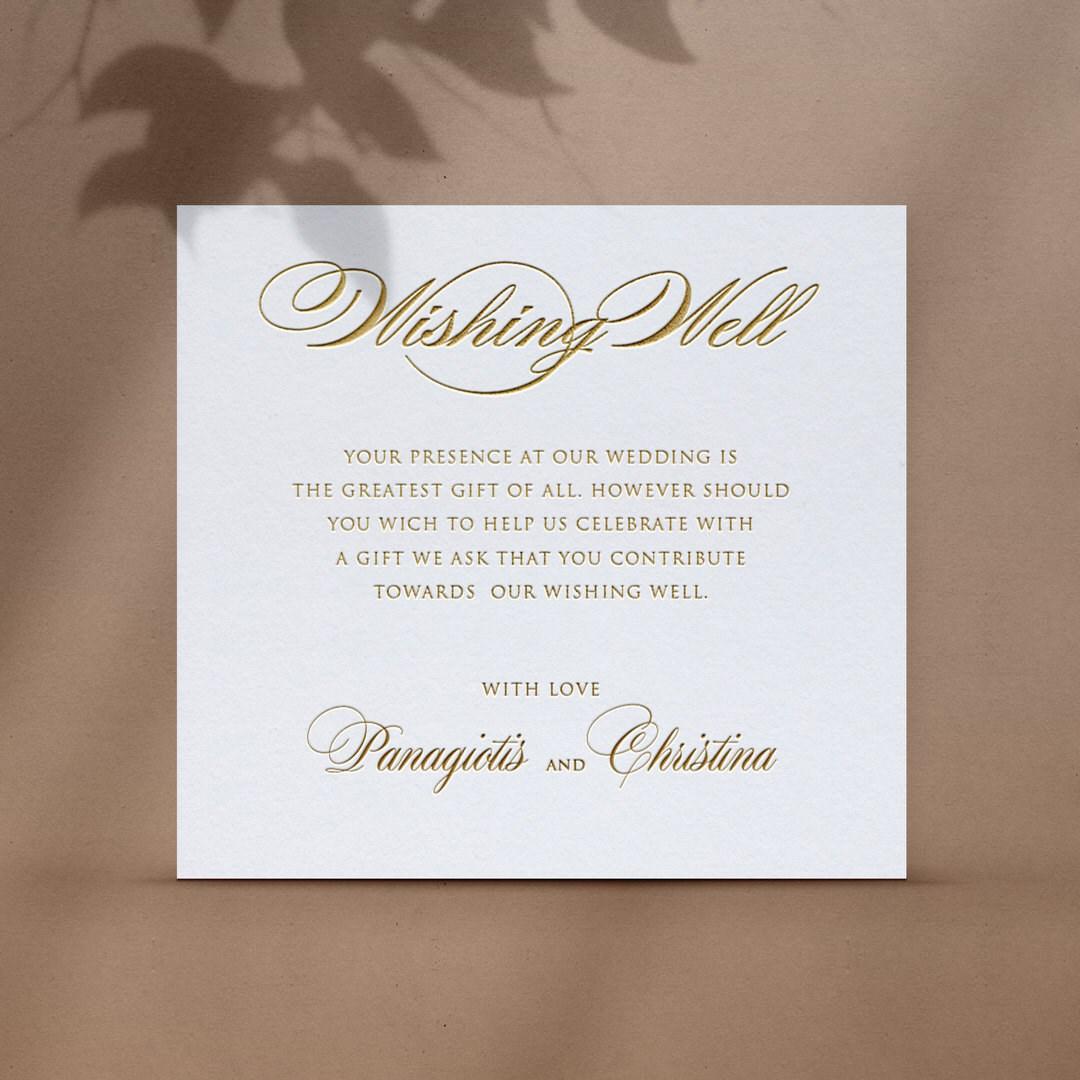 Chic Pre-Foiled Wishing Well Card - Wishing Well / Gift Registry - WD-KI300-PFL-GG-07 - 184512