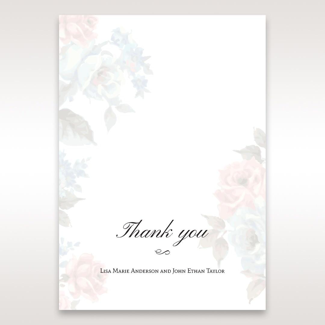 Blue Magical Flower Garden - Thank You Cards - Wedding Stationery - 57