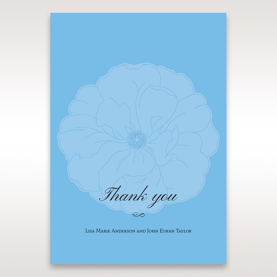Blue Urban Flower Handcrafted - Thank You Cards - Wedding Stationery - 51
