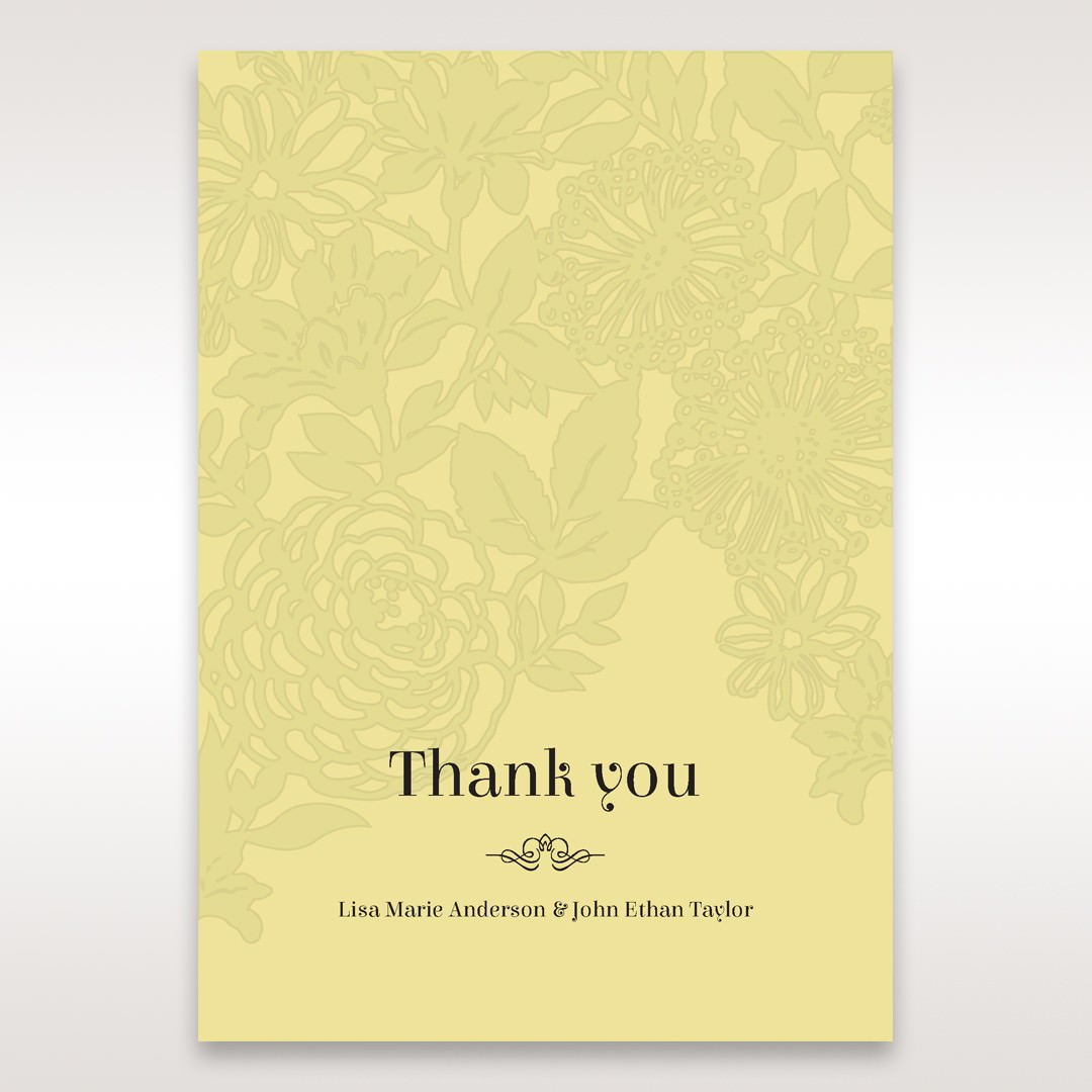 Green Magical Garden - Thank You Cards - Wedding Stationery - 9
