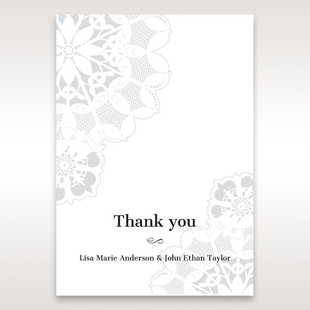 Black Laser Cut Floral Frame - Thank You Cards - Wedding Stationery - 19