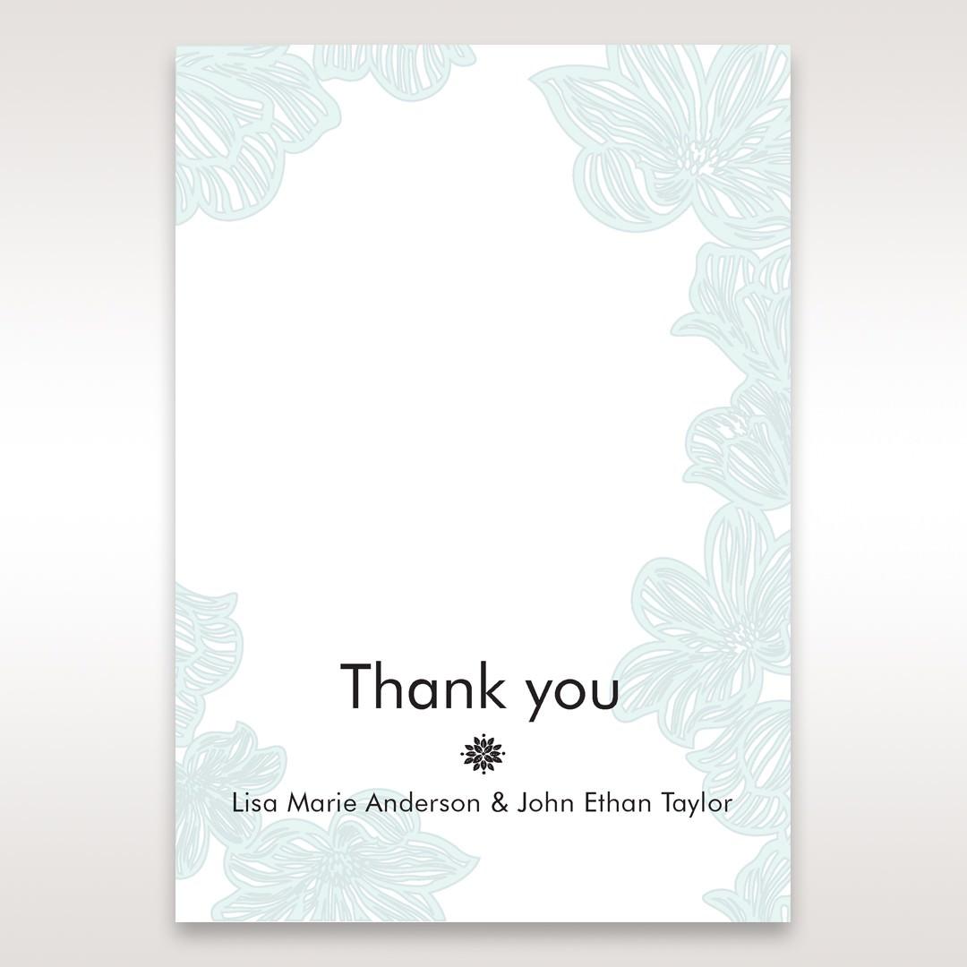 Blue Laser Cut Flower Wrap - Thank You Cards - Wedding Stationery - 60